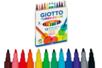 Feutres Giotto Turbo Color - 1 pochette de 12 feutres - Feutres pointes moyennes 08101 - 10doigts.fr