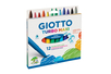 Feutres grosses pointes GIOTTO - 12 feutres - Feutres Larges 02415 - 10doigts.fr