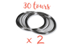 Fil mémoire 30 tours Ø 6 cm - Lot de 2 - Bracelets 13134 - 10doigts.fr