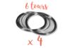 Fil mémoire 6 tours - Ø 6 cm - Lot de 4  - Bracelets 12997 - 10doigts.fr