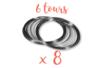 Fil mémoire 6 tours - Ø 6 cm - Lot de 8  - Bracelets 12998 - 10doigts.fr