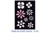 "Pochoirs adhésifs repositionnables ""Fleurs"" - Pochoirs Adhésifs - 10doigts.fr"