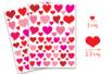 Gommettes coeurs Déco (4 planches de 61 gommettes) - Stickers, gommettes coeurs - 10doigts.fr