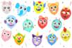 PARTY KIT décoration de ballons - 100 ballons + 100 éléments décoratifs (animaux et visages rigolos) - Ballons, guirlandes, serpentins 38143 - 10doigts.fr