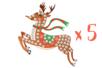 Suspension Renne avec mosaïques - Lot de 5 - Activités de Noël en kit 27907 - 10doigts.fr