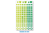 Mosaïques en plastique adhésives -  3 planches Camaïeu vert - Mosaïques plastique 11552 - 10doigts.fr
