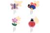 Kit carillons  - 4 formes assorties : papillon, abeille, coccinelle, fleur - Carillons et Mobiles 38351 - 10doigts.fr
