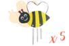 Kit carillon abeille - Lot de 5 - Carillons et Mobiles 12596 - 10doigts.fr