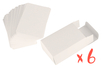 Lot de 6 boîtes de 60 cartes à jouer à personnaliser - Supports blancs 29049 - 10doigts.fr