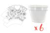 Pots de fleurs à décorer - Lot de 6 - Activités faciles à réaliser 12679 - 10doigts.fr