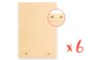 Supports pour clés en bois - Lot de 6 - Plaques de porte - 10doigts.fr