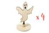 Marque-place fantôme en bois - Lot de 4 - Halloween 28038 - 10doigts.fr