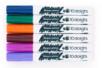 Marqueurs peinture - 6 couleurs complémentaires : bleu foncé, vert foncé, fuschia, orange, brun, violet - Peinture Verre et Faïence - 10doigts.fr