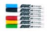 Marqueurs peinture - 6 couleurs de base : rouge, jaune, bleu clair, vert clair, blanc, noir  - Peinture Verre et Faïence 14724 - 10doigts.fr