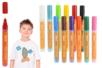 Marqueurs peinture textiles - Set de 12 couleurs (base + complémentaire) - Feutres Marqueurs Dessin 14864 - 10doigts.fr