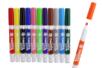 Marqueurs textiles, couleurs assorties - 12 feutres - Peintures et marqueurs pour tissus 02992 - 10doigts.fr