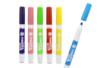 Marqueurs textiles, couleurs claires - 6 feutres - Peintures et marqueurs pour tissus 11427 - 10doigts.fr