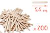Bâtons d'esquimaux en bois (5,5 cm) - Lot de 200 - Bâtonnets, tiges, languettes - 10doigts.fr