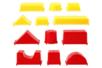 """Moules """"formes géométriques"""" - Lot de 12 moules - Sable à modeler 37246 - 10doigts.fr"""