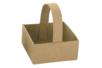 Panier en papier mâché carré  - Supports de fêtes en carton 12017 - 10doigts.fr