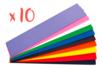 Lot de 10 sets de 10 feuilles de papier crépon, couleurs assorties - Papiers de crépon 32220 - 10doigts.fr