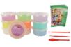 Pâte à modeler Soft Clay couleurs pastels assorties - Set de 10 pots 40 gr - Pâtes à modeler qui sèchent à l'air 15248 - 10doigts.fr