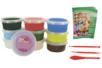 Pâte à modeler Soft Clay couleurs vives assorties - Set de 10 pots de 40 gr - Pâtes à modeler qui sèchent à l'air 15247 - 10doigts.fr