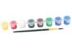 Peinture acrylique - 8 godets de 3.5 ml + 1 pinceau - Acryliques scolaire 11662 - 10doigts.fr