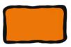 Peinture repositionnable Orange - Flacon 80 ml - Peinture Verre et Faïence - 10doigts.fr