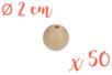 Perles bois 2 cm / Ø trou 3,5 mm- 50 perles - Perles en bois 03827 - 10doigts.fr