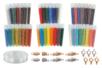 Perles de rocailles - Lot de 3 sets de 15 tubes (45 tubes) + CADEAUX - Perles de rocaille 12756 - 10doigts.fr