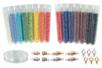 Perles de rocailles nacrées - Set de 15 tubes + CADEAUX - Perles de rocaille 12754 - 10doigts.fr
