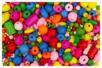 Perles en bois couleurs et formes assorties (0,5 à 2 cm) - Set de 180 perles  - Perles en bois - 10doigts.fr
