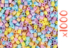 Perles fusibles pastel - 1000 perles - Perles Fusibles 5 mm 16154 - 10doigts.fr