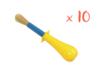 Pinceaux gros manche (touffe ø 1,5 cm)  - Set de 10 - Brosses 05606 - 10doigts.fr
