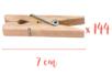 Pinces à linge 7 cm - 4 lots de 36 (144 pinces) - Pinces à linge en bois brut 06392 - 10doigts.fr