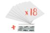 Carton mousse avec face adhésive - Format A4 - Ép. 3 mm - 18 plaques A4 + un CUTTER OFFERT  - Carton Plume et Polystyrène 34177 - 10doigts.fr