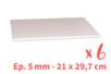 Plaques de carton-plume  21 x 29.7 cm - 6 plaques - Carton Plume et Polystyrène - 10doigts.fr