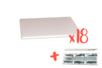 Plaques de carton-plume 21 x 29.7 cm + Cutter OFFERT - 18 plaques - Carton Plume et Polystyrène 18397 - 10doigts.fr