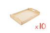 Plateau en bois 20 x 30 cm - Lot de 10 - Plateaux en bois 11688 - 10doigts.fr