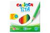 Crayons de couleur Carioca - 24 crayons - Crayons de couleurs - 10doigts.fr