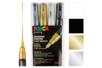 Marqueurs POSCA pointes extra-fines 1 mm PC1MC - Set de 4 - Acrylique Métallisée 08207 - 10doigts.fr