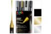 Marqueurs POSCA pointes moyennes (1,8 à 2,5 mm) PC5M - Set de 4 - Acrylique Métallisée - 10doigts.fr