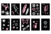 Pochoirs adhésifs 10 x 7 cm - Set de 10 pochoirs - Pochoirs Adhésifs 40049 - 10doigts.fr