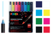 POSCA PC1MR pointes extra-fines (0,7 mm) - 8 couleurs - Marqueurs Posca 40190 - 10doigts.fr