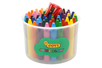 Maxi crayons cire ultra résistants - 60 crayons + 1 taille crayon - Crayons cire 35049 - 10doigts.fr