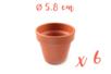 Pots en terre cuite Ø 5,8 cm - Hauteur 5 cm - 6 pots - Supports en Céramique et Terre Cuite - 10doigts.fr