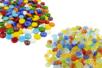 PROMO : Galets couleurs brillantes + Galets Oeil de chat - Soit 400 galets - Mosaïques verre 31155 - 10doigts.fr