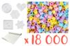Super pack 18000 perles Pastel + OFFERT : 5 plaques + 1 rouleau de papier à repasser - Perles Fusibles 5 mm 15269 - 10doigts.fr