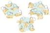 PROMO :15 porte-clés assortis en bois ( animaux marins + printemps + savane) - Porte-clefs en bois 34136 - 10doigts.fr